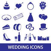 Wedding icons set eps10 — Stock Vector