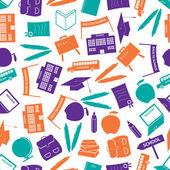 School icon color pattern eps10 — Stock Vector