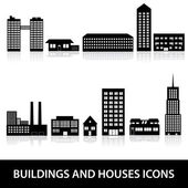 Buildings and houses icons eps10 — Wektor stockowy