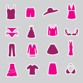 Womens clothing stickers set eps10 — Stock Vector