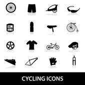 Cycling icons eps10 — Stock Vector