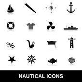 Nautical icons eps10 — Stock Vector