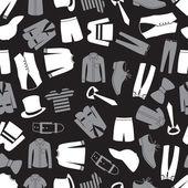 Mens abbigliamento seamless pattern eps10 — Vettoriale Stock