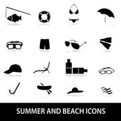 Summer and beach icons eps10 — Stock Vector