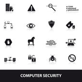 Computer security icons eps10 — Wektor stockowy