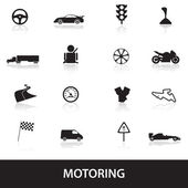 Motoring icons eps10 — Stock Vector