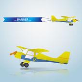 Vector small airplane eps10 — Stok Vektör
