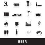 Beer icons eps10 — Stock Vector