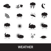 Weather symbols eps10 — Stock Vector