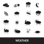 Weather symbols eps10 — Stockvektor