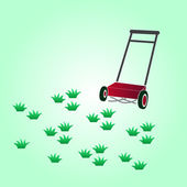 Garden lawn-mower eps10 — Stockvektor