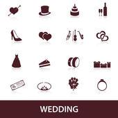 Wedding icons eps10 — Stock Vector