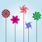 Colorful pinwheel toys eps10 — Stock Vector