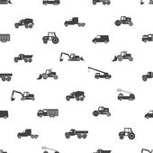 Heavy machinery icons seamless pattern eps10 — Vettoriale Stock