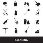 Cleaning icons set eps10 — Stock Vector