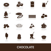 Chocolate icons set eps10 — Stock Vector