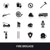 Fire brigade icons set eps10 — Stok Vektör