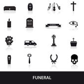 Funeral icons set eps10 — Stock Vector