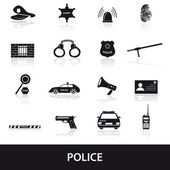 Police icons set eps10 — Stock Vector