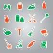Cleaning stickers set eps10 — Stock Vector #50561157