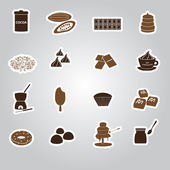 Chocolate stickers set eps10 — Stock Vector