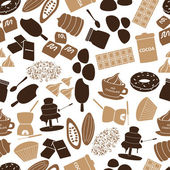 Chocolate icons seamless color pattern eps10 — Stock Vector