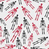 Skeletons seamless pattern eps10 — Stock Vector