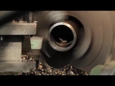 Lathe — Stockvideo