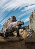 Dragon lizzard — Stock Photo