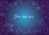 Blue floral frame or postcard — Stock Vector