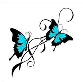 Butterfly graphic — Stock vektor