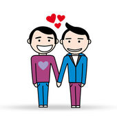 Two gays in love — Stock Vector