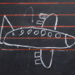 Stock Photo: Childlike drawing of a plane