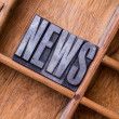 Stock Photo: Typesetter drawer: 'NEWS'