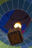Balloon rising, viewed from ground — Stock Photo
