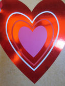 Valentine's Day Red Heart to Use as a Wish Card, shiny, glossy, brilliant, flashy, ideal to show your love — Stock Photo
