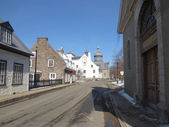 Trois-Rivieres-Quebec-Canada-Ursulines-Convent-Street-with-old-houses (weergave van) — Stockfoto