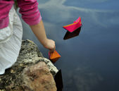 Paper-boats — Stock Photo