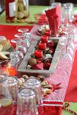 Dekoracja stołu bożego narodzenia — Zdjęcie stockowe