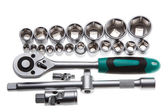 A ratchet set with interchangeable heads — Stockfoto