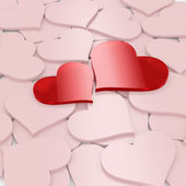Card for valentines day. Two hearts — Stock Photo
