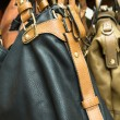 Detail of a leather bag closeup — Stock Photo #41539135