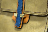 Detail of a leather bag closeup — Stock Photo
