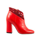 Red female boot — Stock Photo