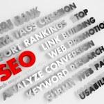 SEO concept, Internet technology. 3D voluminous words. — Stock Photo #42540079