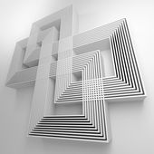 Abstract background with intersecting geometric lines. 3D. — Stock Photo
