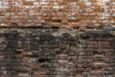 Abstract background of old brickwork. Old, cracked, weathered br — Stock Photo