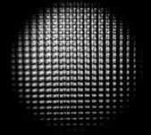 Round embossed glass macro black and white — Stock Photo