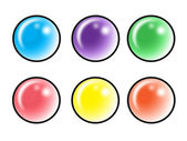 Colored icons — Stock Vector