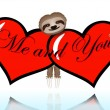 Me and you with the sloth — Vector de stock